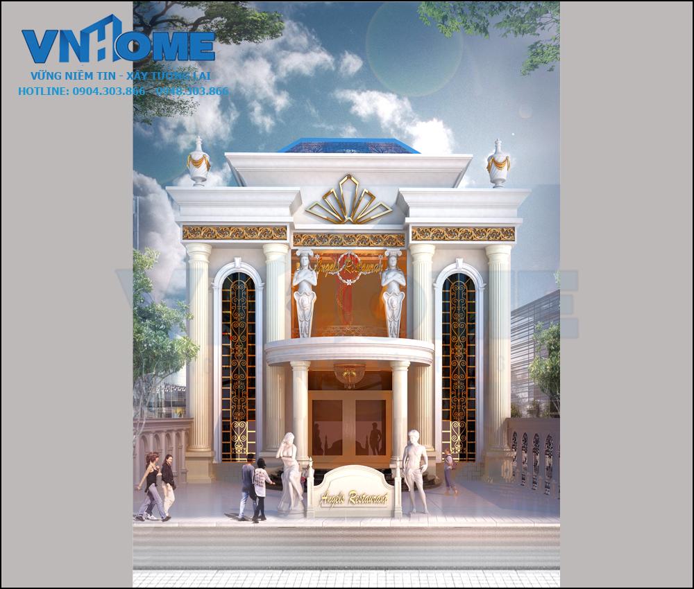 Thiết kế nhà hàng tân cổ điển sang trọng tại Cát Bà, Hải Phòng 01