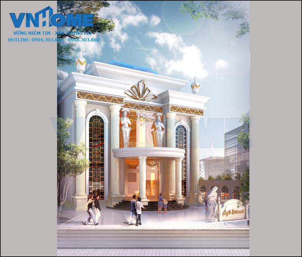 Thiết kế nhà hàng tân cổ điển sang trọng tại Cát Bà, Hải Phòng 02
